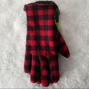 ISOTONER   Active Buffalo Plaid SmarTouch Gloves